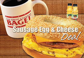 Sausage Egg & Cheese Deal