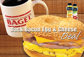 Back Bacon Egg & Cheese Deal