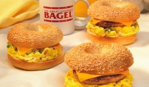 bagel breakfast sample